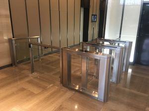 Shanghai Glass Turnstile installation
